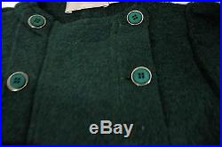 New La Stupenderia Green Girl Toddler Mathilde 4t Wool Coat Military Child