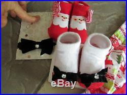 New Lot 14 Newborn Baby Girl Clothing Carters Sleepers Blanket Bibs+ Free Ship