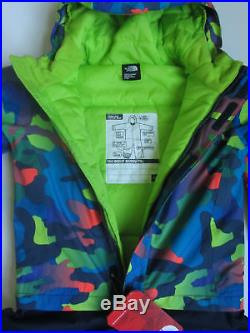 New North Face Toddler Boys Insulated Jumpsuit Snow Suit 1-piece Blue Print 3t 3
