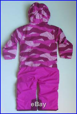 New North Face Toddler Girls Insulated Jumpsuit Snow Suit 3t 3 Pink One Piece