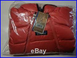 New Patagonia Hi Loft Down Sweater Bunting Infant Baby Snowsuit 0-3 Months Coral