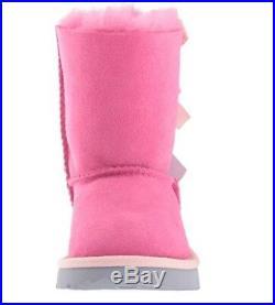 New Toddler Infant Ugg Boot Bailey Bow II Pink Azalea Iclandic Blue 1017394t