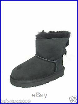 New Toddler Ugg Australia Mini Bailey Bow Boot Black 1005497t Original