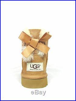 New Toddler Ugg Australia Mini Bailey Bow Boot Chestnut 1005497t Original