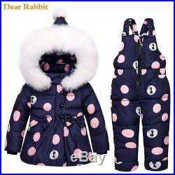 New Winter children clothing sets girls Warm parka down jacket for baby girl