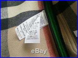 New original burberry brogan hooded duffle coat green color size 12M rare free s