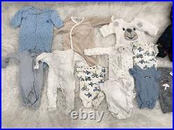 Newborn 0-3 Month Baby Boy Infant Clothes Lot PJs Coat Tops Pants Bodysuits