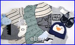 Newborn 0-3 Months Baby Boy Clothes 70+ Piece Lot Outfits Sleepers Carter's Sets