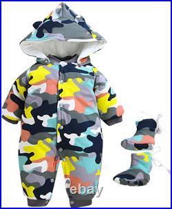 Newborn Baby Boys Girls Winter Snowsuit Warm Clothes 3-18 Months Hooded Camoufla