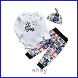 Newborn Infant Baby Boy Letter Romper Tops Print Pants Outfits Autumn Clothes