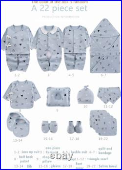 Newborn Set Clothing 22 Pieces FREE SHIPPING NEW 2021 Boys & Girls Baby Clothes