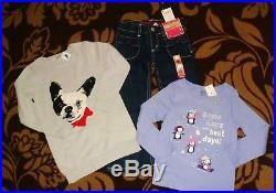 Nwt Gymboree Gap Girls Size 3 3T Lot fall Winter top jeans Dress Outfit Set $450