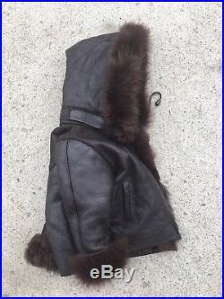 OOAK Sheepskin Shearling Sherpa Genuine Fur Leather Toddler Coat Jacket 2T 24M