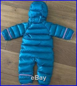 PATAGONIA HI-LOFT DOWN SWEATER BUNTING Elwha Blue Newborn-7LB. NWT$149