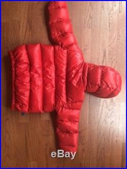 Patagonia Baby Hi-Loft Down Sweater Hoody Jacket Red Boys 3T