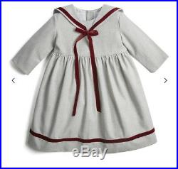 Pepa And Co Classic Mariner Dress Grey And Burgundy. Toddler Girls Size 4T