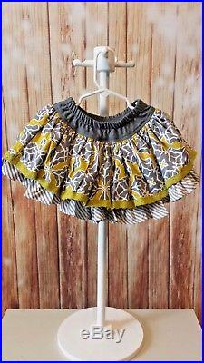 Persnickety 2t October Sky Outfit Skirt Charlie Shirt and Headband Fall Winter