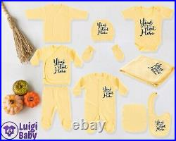 Personalized 10in1 Go Home Outfit, Custom Baby Clothes, Newborn Hospital outfit