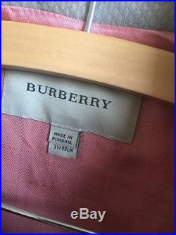 RARE $675 Burberry Kids Girls Sz 3T 3Y 98cm Quilted Jacket Pea Trench Coat HTF