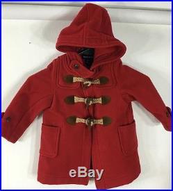 cffae666d0a99 Ralph Lauren Polo Toggle Coat Jacket Girls 18 Months Red Wool ...