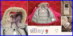 Set 100% Authentic The North Face Pink Greenland Jacket, Snow Bib, Mittens