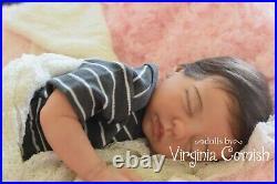 Silicone baby girl preemie doll Marita Winters cloth body lifelike Maisie
