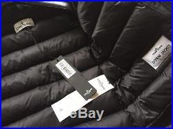 Stone Island Junior Micro Reps Navy Fur Hooded Down Jacket Age 2 Yrs Rrp £445