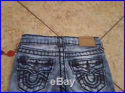 Sz 3T New True Religion Boys Jeans Geno Super T Geno Slim Fit Skyline Blue Wash