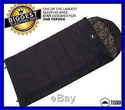 Tough Outdoors The Colossal Winter Double Sleeping Bag XXL Hooded Perfect For Ca