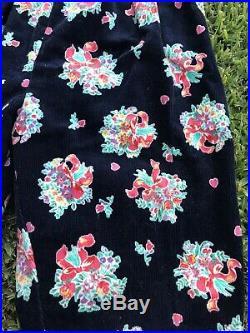Vintage OshKosh B'Gosh Size 4 Vestbak Floral Bow Corduroy Overalls 90s NEW