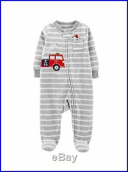 WholeSale Baby Boy's Autumn Winter Footed Pajamas Fleece Sleep & Play Clothes