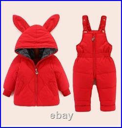 Winter Boy Jumpsuit Children Baby Girl Down Coat Clothes Warm Infant Snowsuit