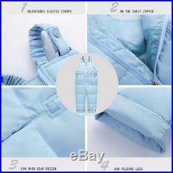 Winter Children Clothing Sets Jumpsuit Snow Jackets+bib Pant 2pcs Set Baby Boy G