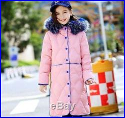 Winter Children Clothing White Duck Down Jacket Coat Baby Girl Clothes Parka Rea