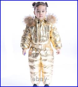 Winter Children's 1PCS Down Jacket Hooded Warm Boy Baby Rompers Kids Jumpsuit