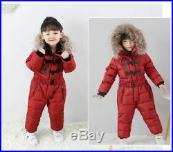 Winter Degree Thicken Rompers Baby Boys Warm Hoodie Clothes Windproof Snowsuit